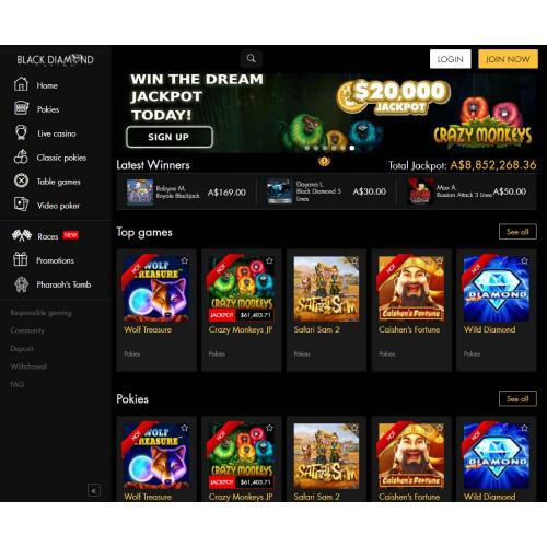 Play At Black Diamond Casino
