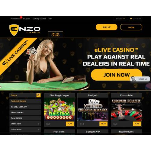 Play At Enzo Casino
